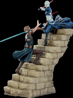 Anakin VS Asajj Polystone Diorama