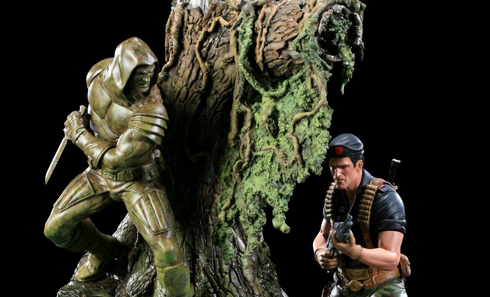 Gallery Feature Image of Flint VS Zartan Diorama Polystone Diorama - Click to open image gallery