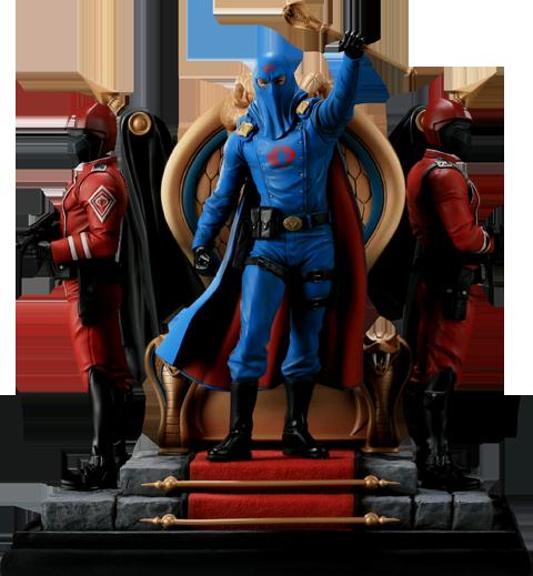 Sideshow Collectibles Cobra Commander Diorama Polystone Diorama