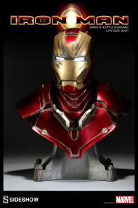 Gallery Image of Iron Man - Battle Damaged Life-Size Bust