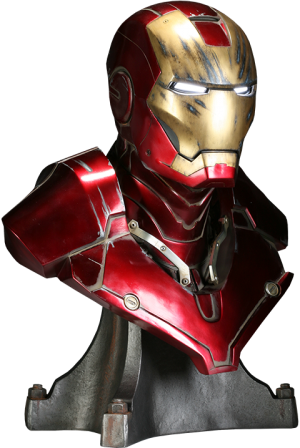 Iron Man - Battle Damaged Life-Size Bust