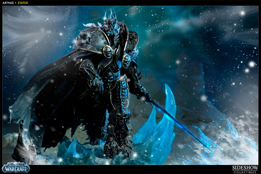 World of Warcraft Arthas Polystone Statue by Sideshow Collec