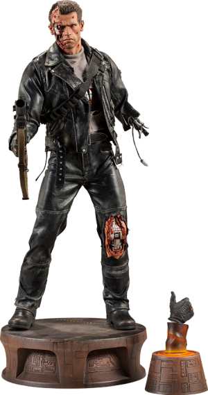 T:800 Terminator Battle Damaged Premium Format™ Figure