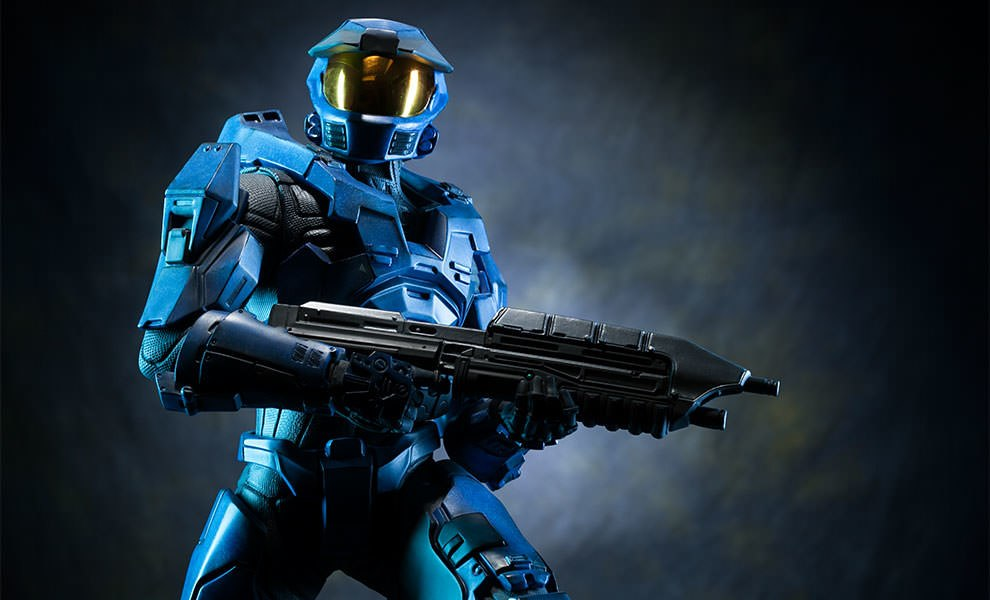 Gallery Feature Image of HALO Spartan - Blue Team Leader Premium Format™ Figure - Click to open image gallery