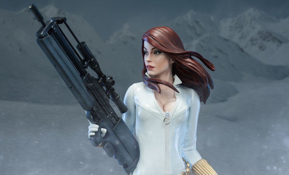 Gallery Feature Image of Black Widow - White Costume Edition Premium Format™ Figure - Click to open image gallery