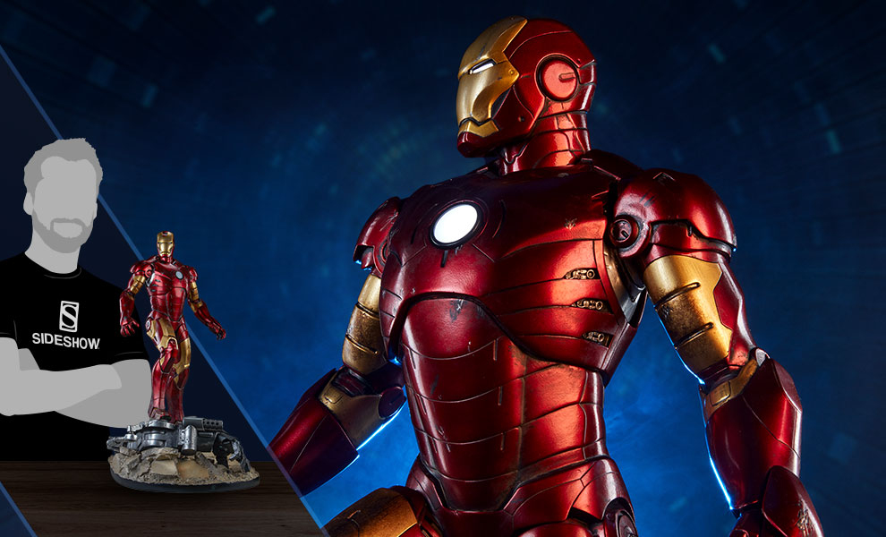 Gallery Feature Image of Iron Man Mark III Maquette - Click to open image gallery
