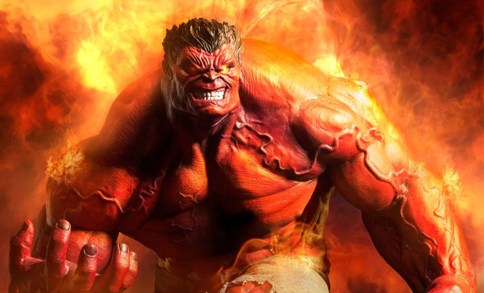 Gallery Feature Image of Red Hulk Premium Format™ Figure - Click to open image gallery