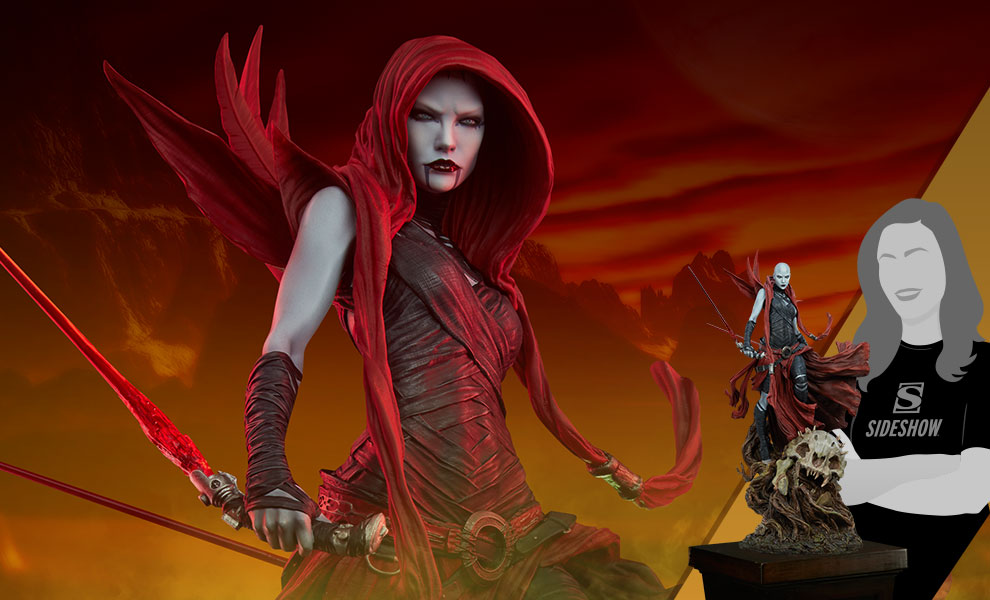 Gallery Feature Image of Asajj Ventress™ Mythos Statue - Click to open image gallery