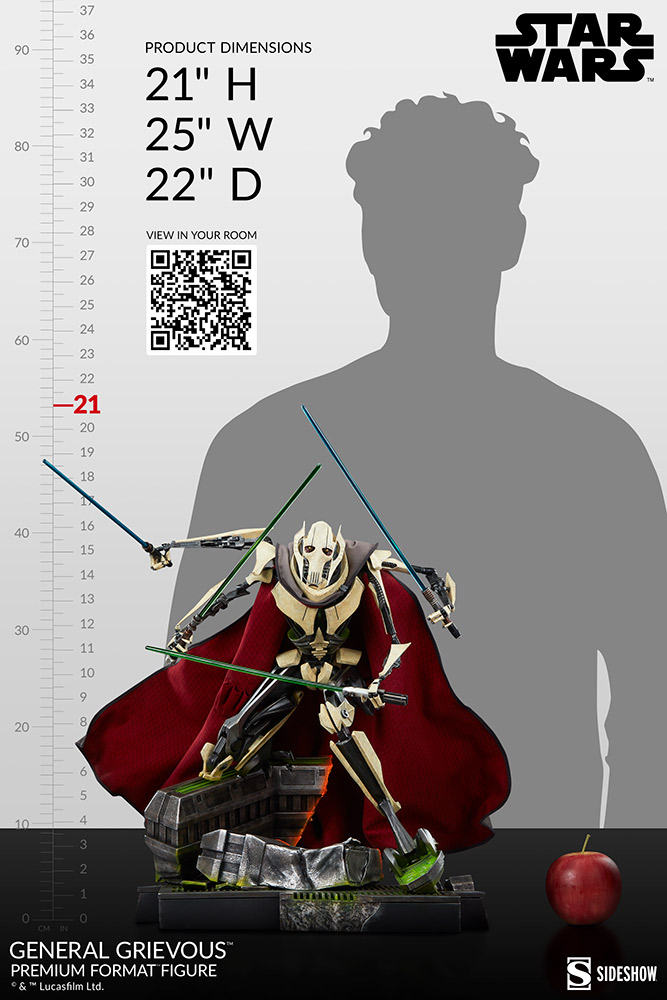 Star Wars: Revenge of the Sith : General Grievous Premium Format Figure General-grievous_star-wars_gallery_6155e65f7a21b