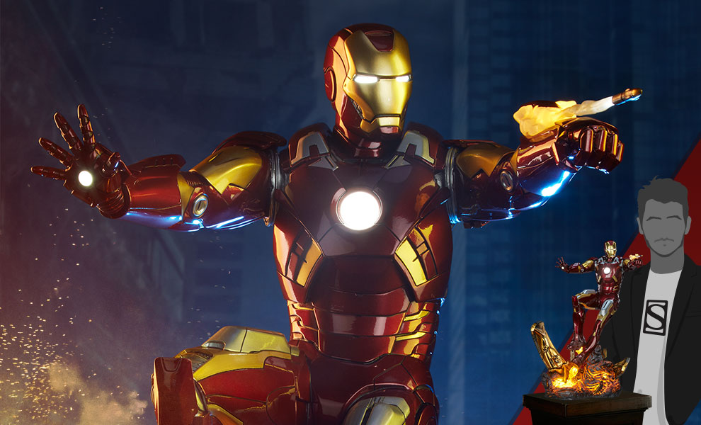 Gallery Feature Image of Iron Man Mark VII Maquette - Click to open image gallery
