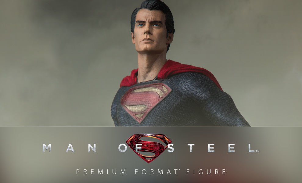 Gallery Feature Image of Man of Steel: Superman Premium Format™ Figure - Click to open image gallery