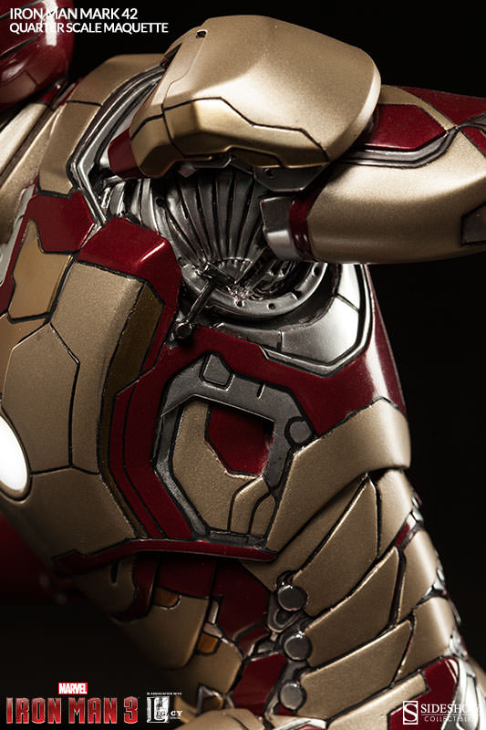 Marvel Iron Man Mark 42 Quarter Scale Maquette by Sideshow C