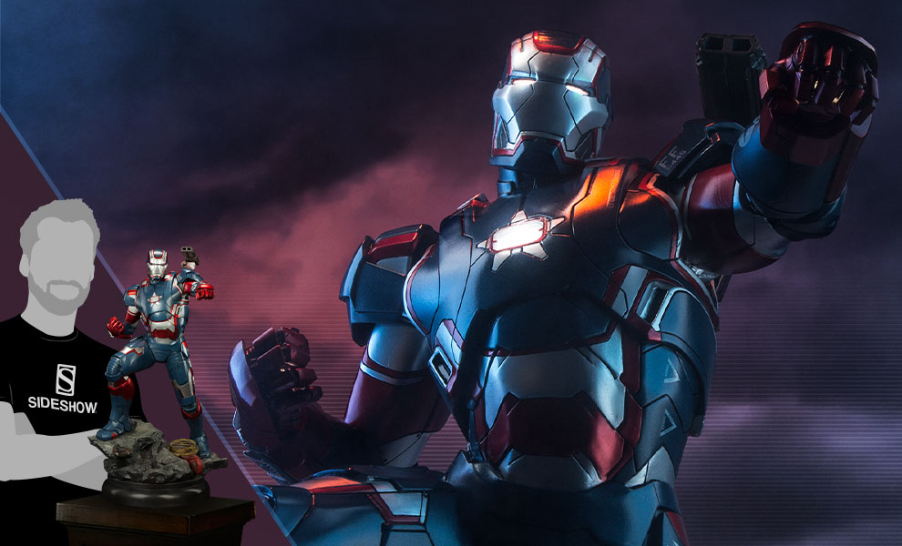 Gallery Feature Image of Iron Patriot Quarter Scale Maquette - Click to open image gallery