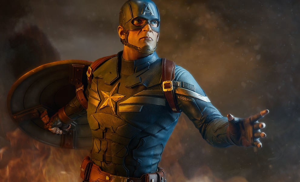 Gallery Feature Image of Captain America Premium Format™ Figure - Click to open image gallery