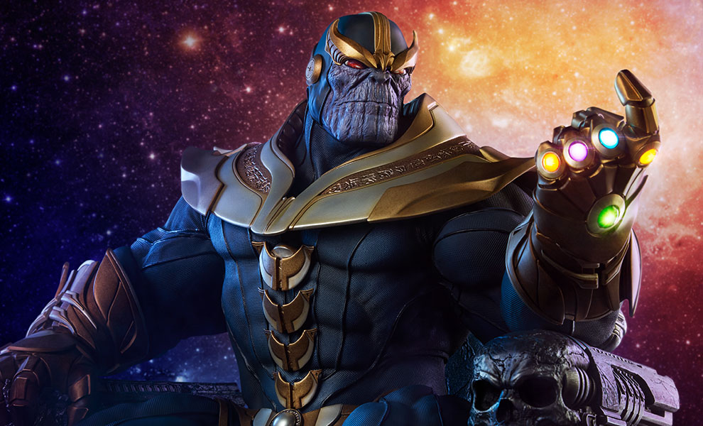 Gallery Feature Image of Thanos on Throne Maquette - Click to open image gallery