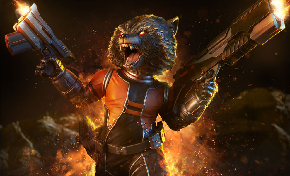 Gallery Feature Image of Rocket Raccoon Premium Format™ Figure - Click to open image gallery