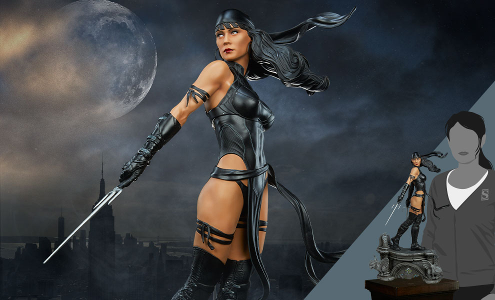 Gallery Feature Image of Elektra (Black Costume Variant) Premium Format™ Figure - Click to open image gallery