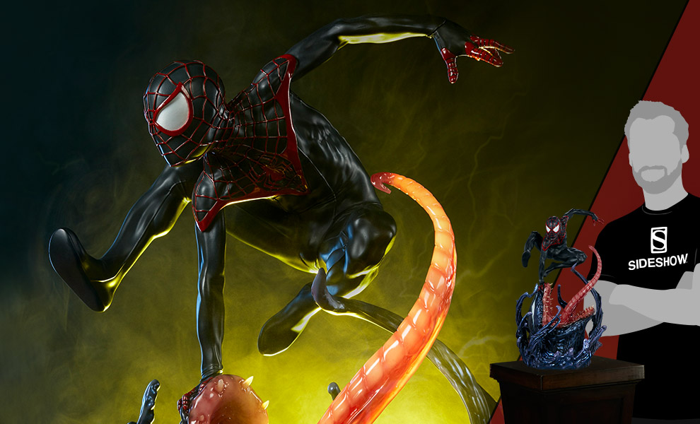 Gallery Feature Image of Spider-Man Miles Morales Premium Format™ Figure - Click to open image gallery