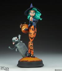 Gallery Image of Pumpkin Witch Statue