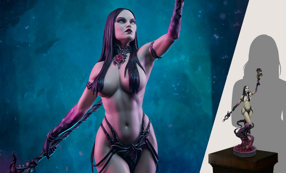 Gallery Feature Image of Dark Sorceress: Guardian of the Void Statue - Click to open image gallery