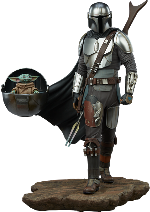 Sideshow Collectibles The Mandalorian™ and Grogu™ Premium Format™ Figure