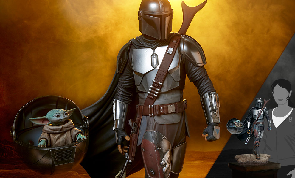 Gallery Feature Image of The Mandalorian™ and Grogu™ Premium Format™ Figure - Click to open image gallery