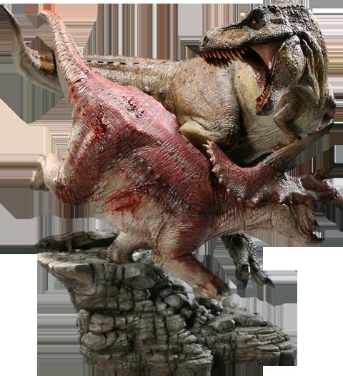 Sideshow Collectibles Tyrannosaurus Rex VS Triceratops Diorama Polystone Diorama