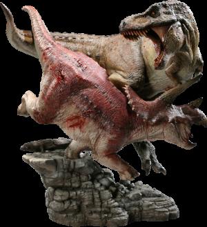 Tyrannosaurus Rex VS Triceratops Diorama Polystone Diorama