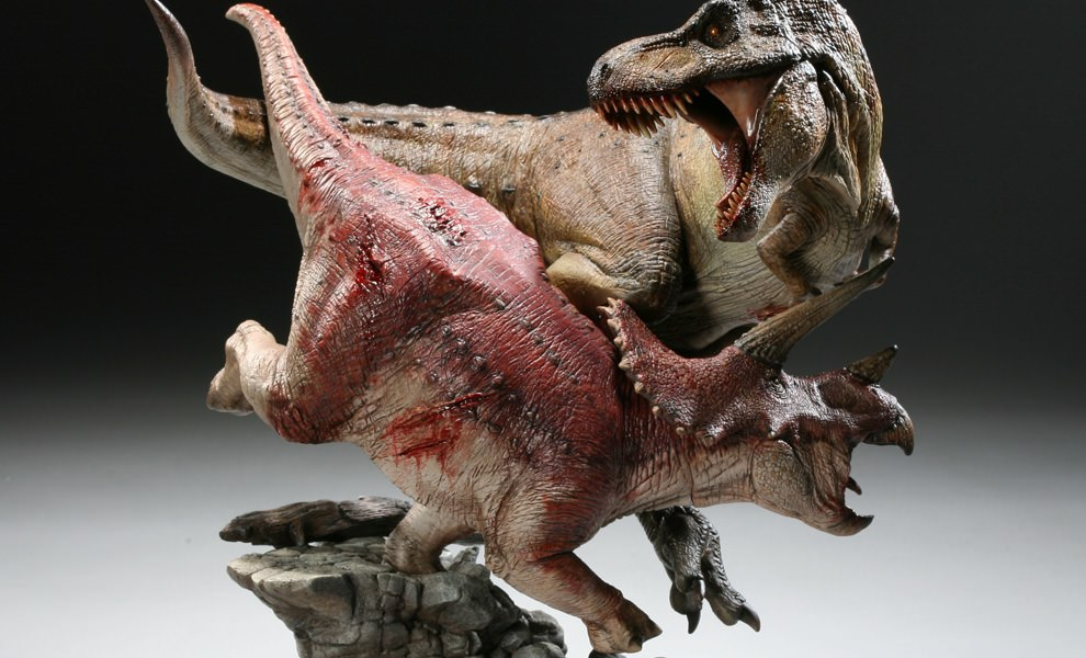 Gallery Feature Image of Tyrannosaurus Rex VS Triceratops Diorama Polystone Diorama - Click to open image gallery