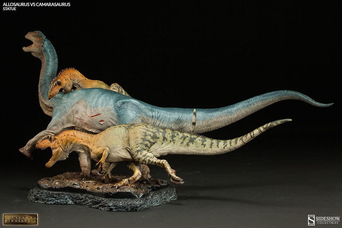 Dinosauria Allosaurus vs Camarasaurus Statue by Sideshow ...