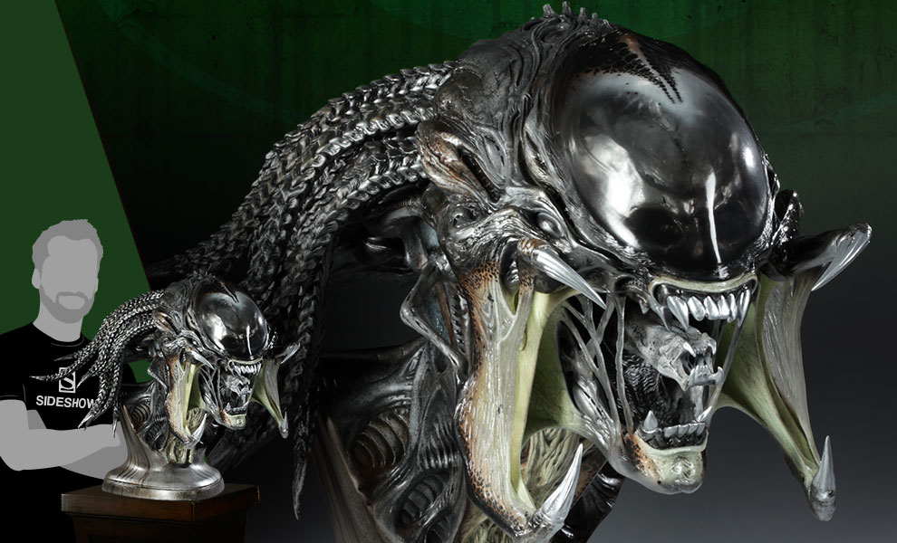 Gallery Feature Image of PredAlien Life-Size Bust - Click to open image gallery