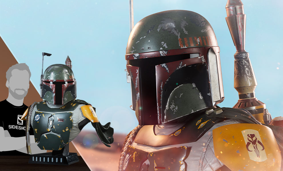 Gallery Feature Image of Boba Fett Life-Size Bust - Click to open image gallery