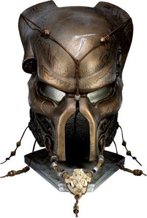 Elder Predator Ceremonial Mask Prop Replica