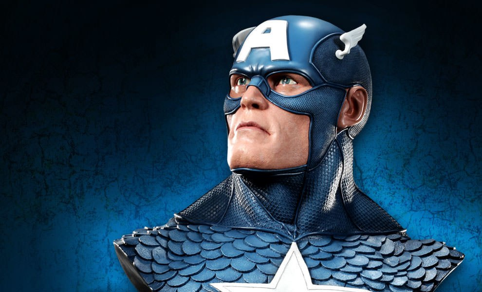 Gallery Feature Image of Captain America Life-Size Bust - Click to open image gallery