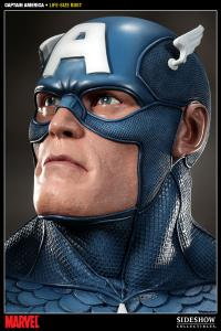 Gallery Image of Captain America Life-Size Bust