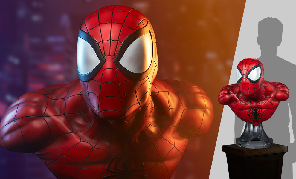 Gallery Feature Image of Spider-Man Life-Size Bust - Click to open image gallery