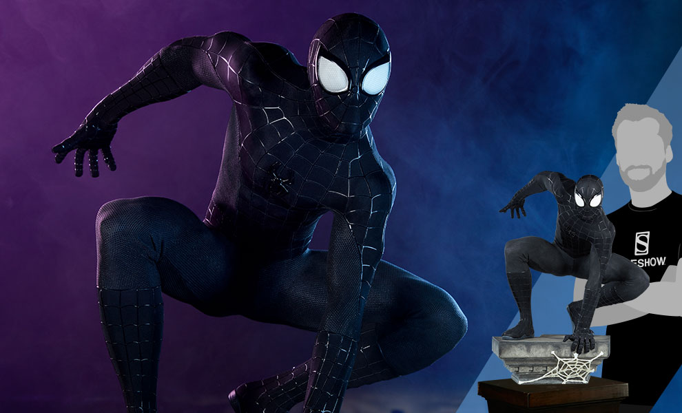 Gallery Feature Image of Spider-Man (Black Suit Variant) Legendary Scale™ Figure - Click to open image gallery