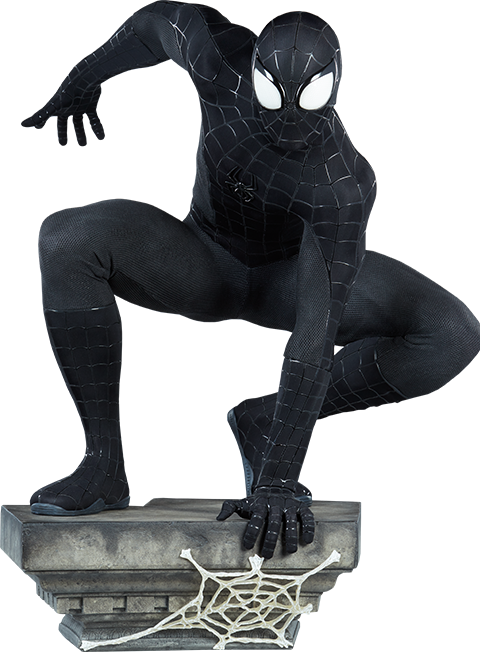 Sideshow Collectibles Spider-Man (Black Suit Variant) Legendary Scale™ Figure