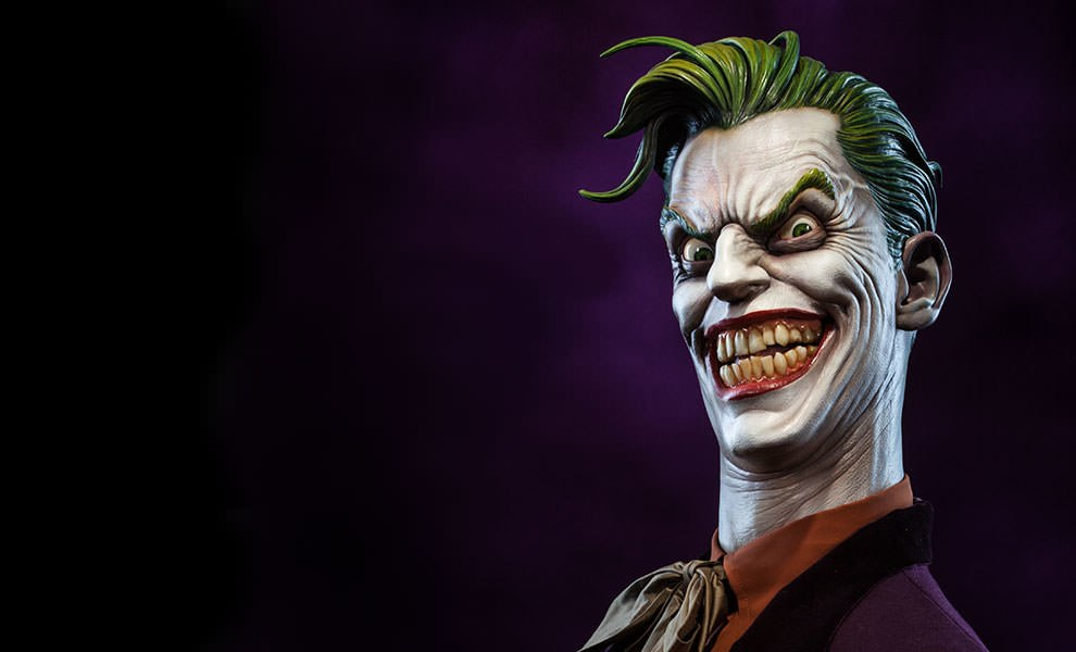 Gallery Feature Image of The Joker Life-Size Bust - Click to open image gallery