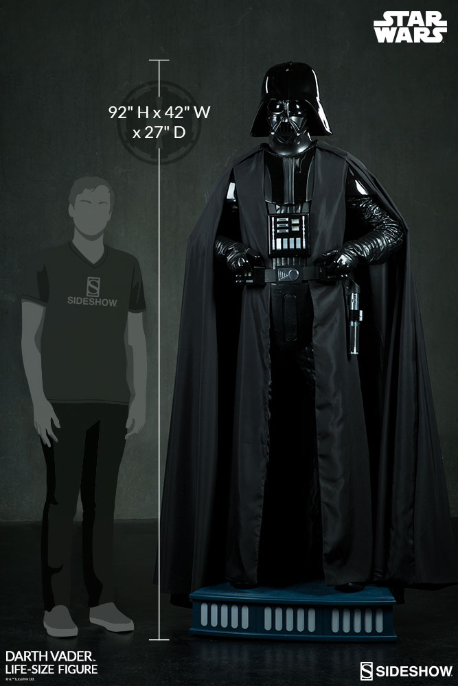 fe76c9fded66ec Star Wars Darth Vader Life-Size Figure by Sideshow Collectib ...