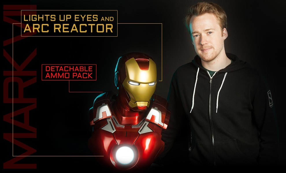 Gallery Feature Image of Iron Man Mark VII Life-Size Bust - Click to open image gallery