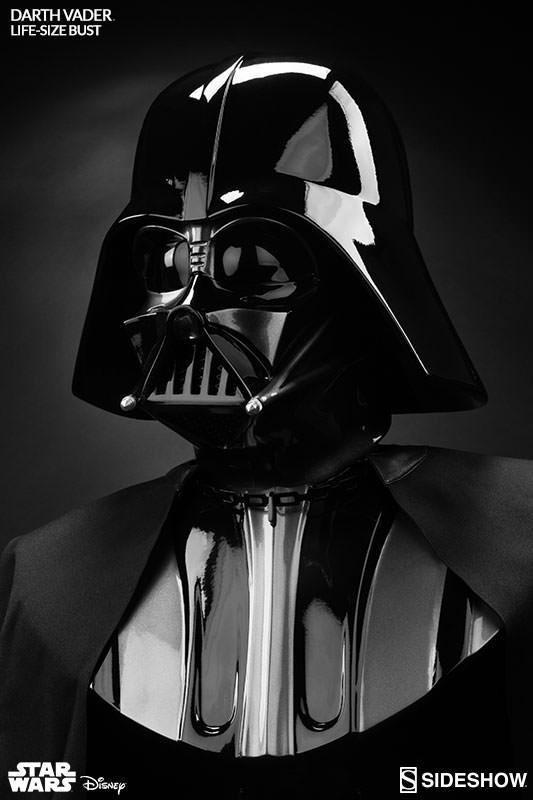 star wars darth vader life size bust by sideshow. Black Bedroom Furniture Sets. Home Design Ideas