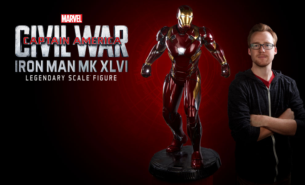 Gallery Feature Image of Iron Man Mark XLVI Legendary Scale™ Figure - Click to open image gallery
