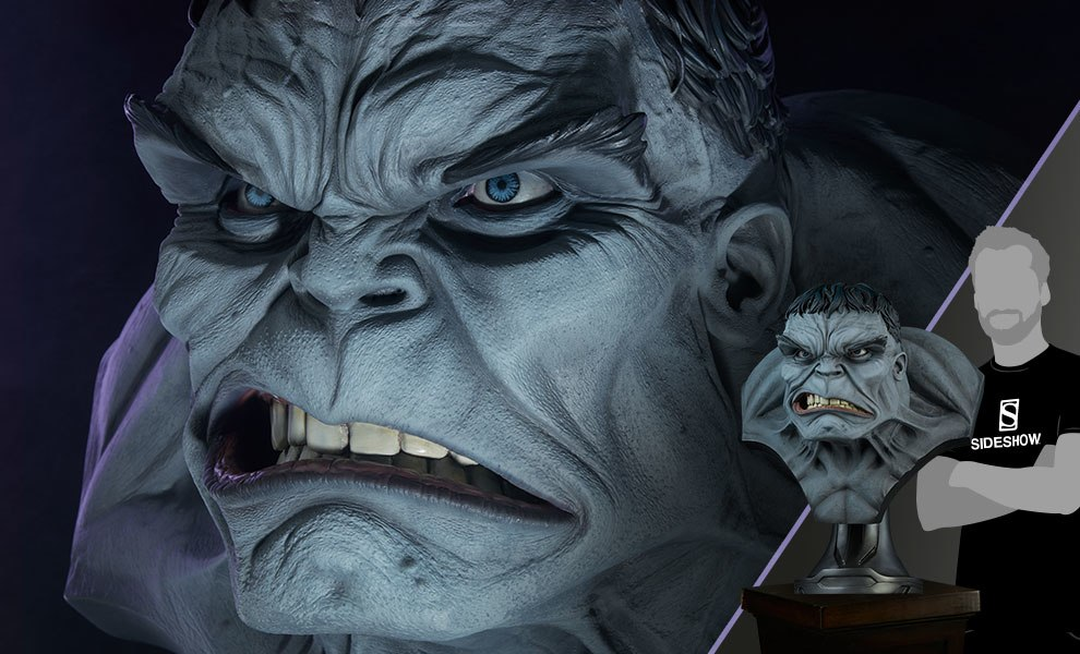 Gallery Feature Image of Gray Hulk Life-Size Bust - Click to open image gallery