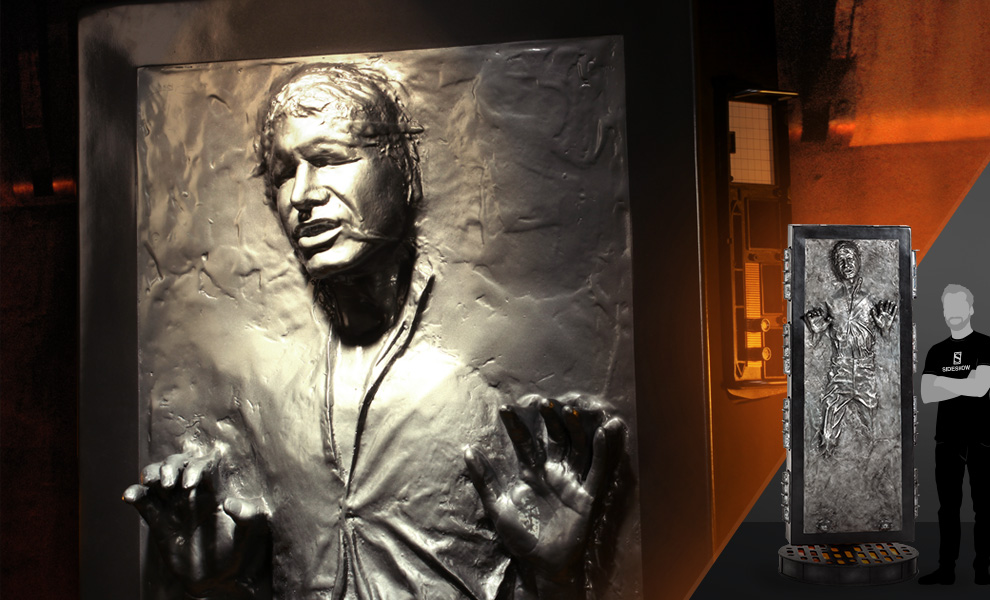 Gallery Feature Image of Han Solo in Carbonite Life-Size Figure - Click to open image gallery