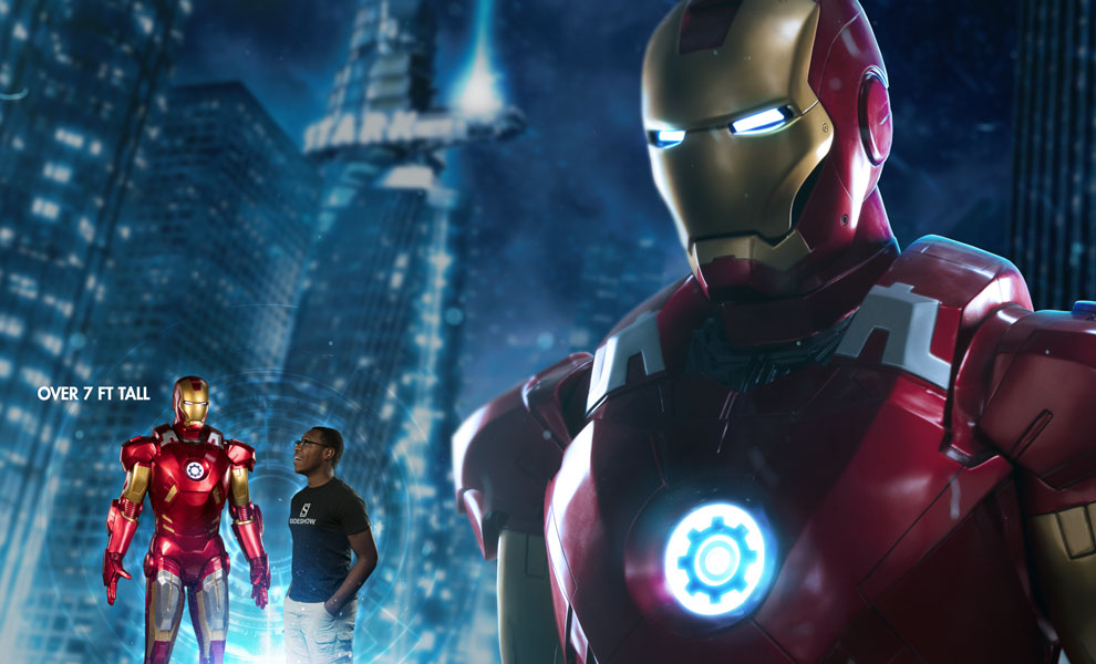 Gallery Feature Image of Iron Man Mark VII Life-Size Figure - Click to open image gallery