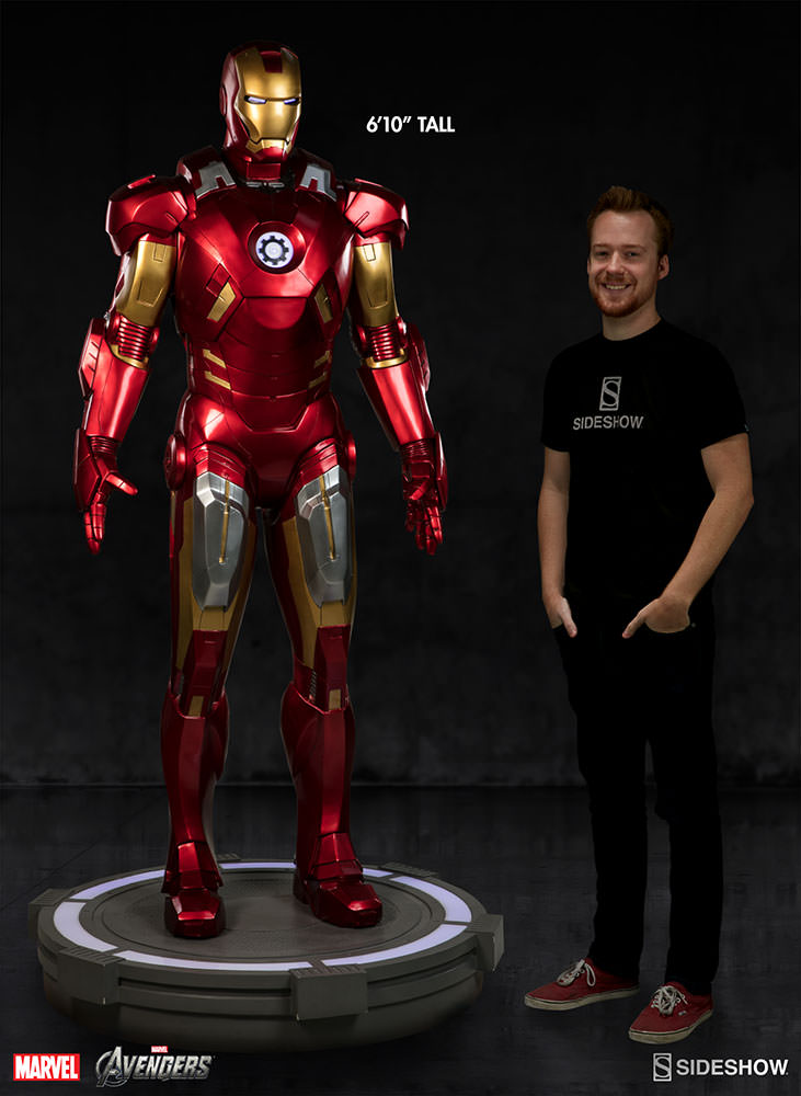 Marvel Iron Man Mark Vii Life Size Figure By Sideshow Collec