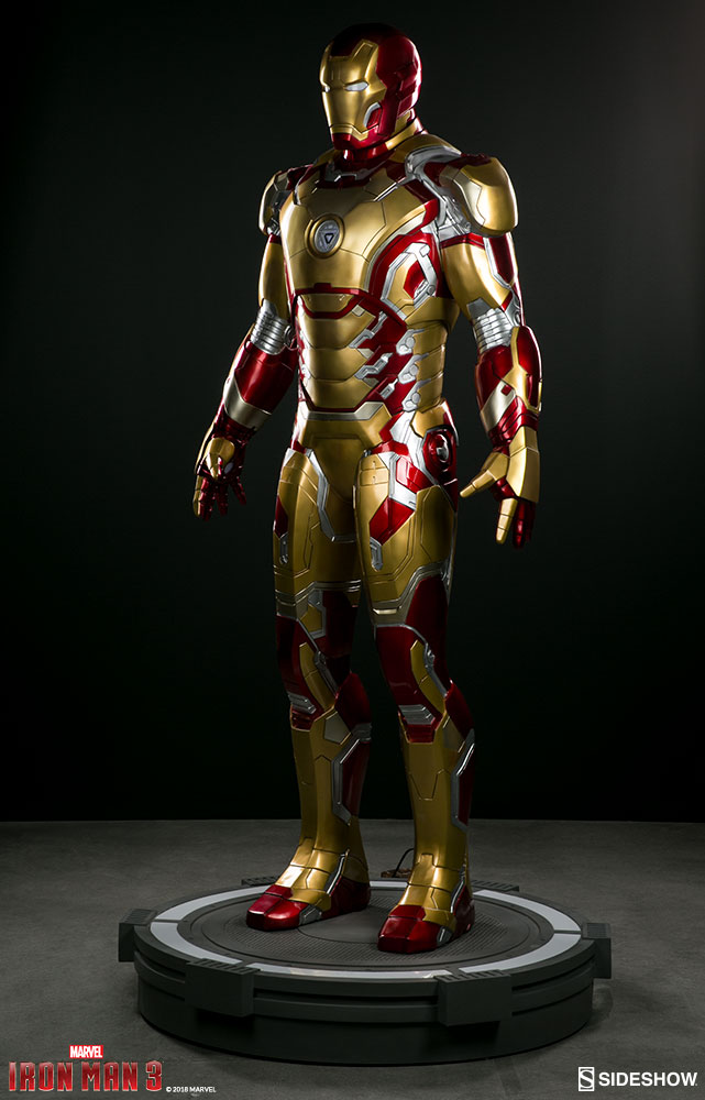 Marvel Iron Man Mark 42 Life Size Figure By Sideshow Collect