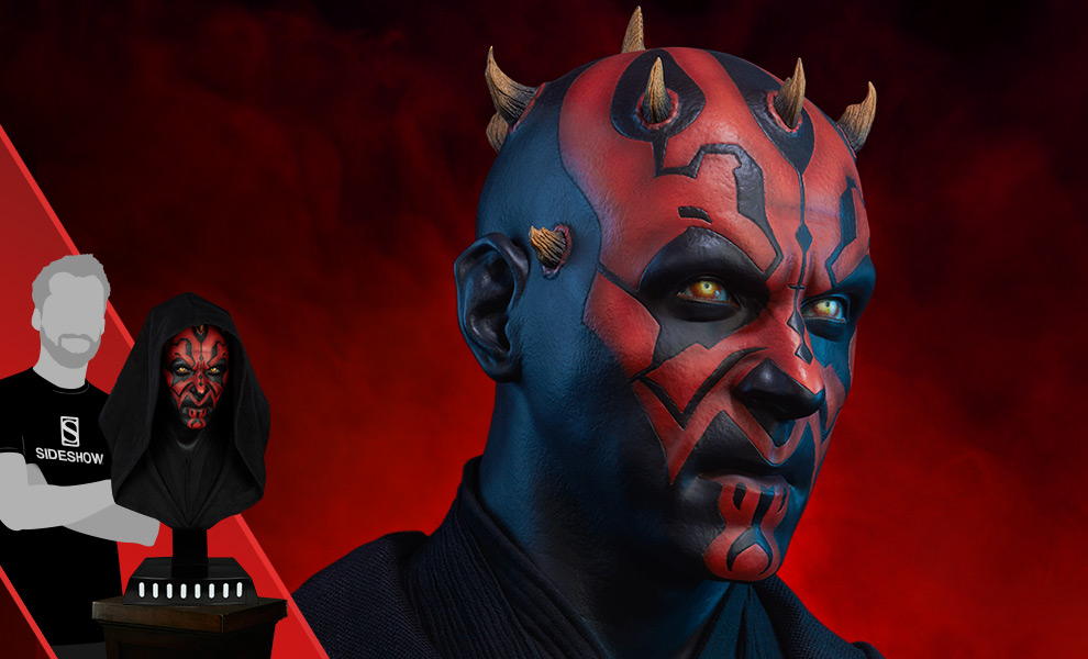 Gallery Feature Image of Darth Maul Life-Size Bust - Click to open image gallery