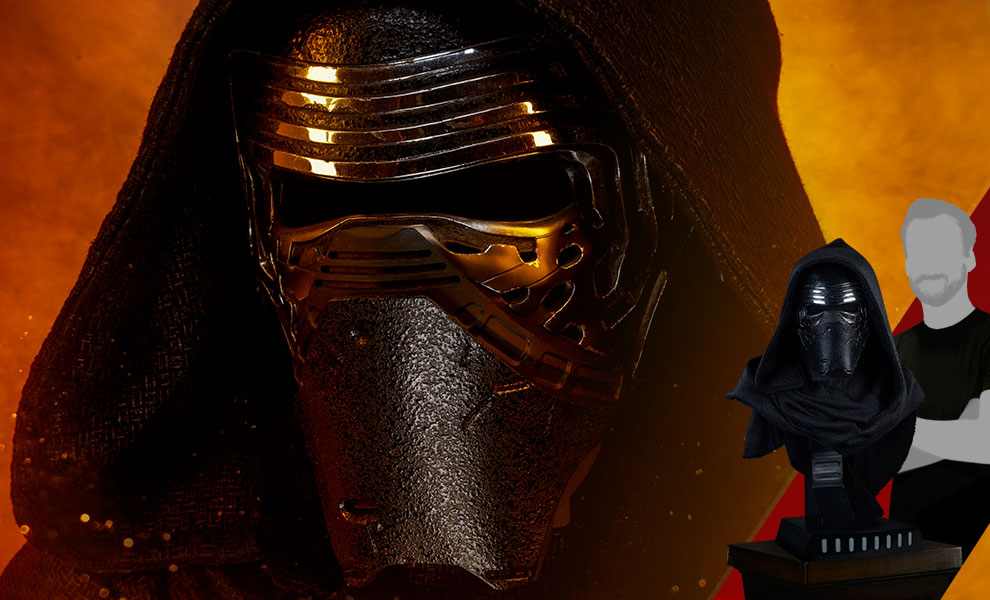 Gallery Feature Image of Kylo Ren Life-Size Bust - Click to open image gallery